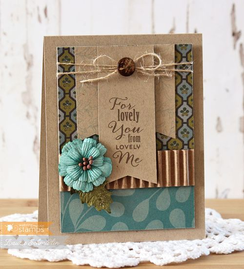For Lovely You  - by Laurie Schmidlin Features the Gift Card It stamp set from Watlzingmouse Stamps