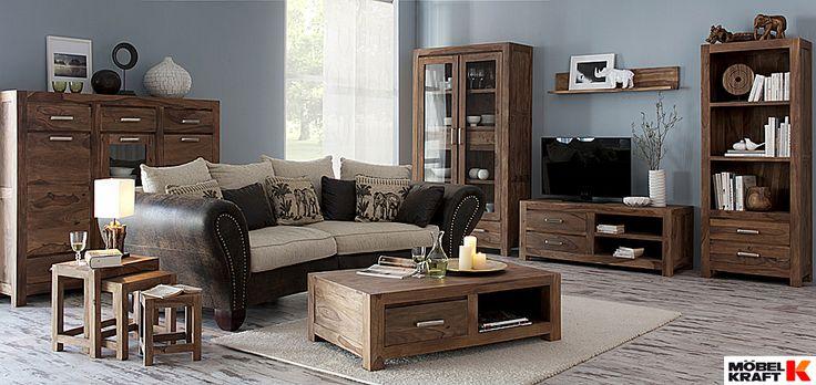 rustikales wohnzimmer im industrie look http://www.moebel-kraft.de ... - Wohnzimmer Industrial Style