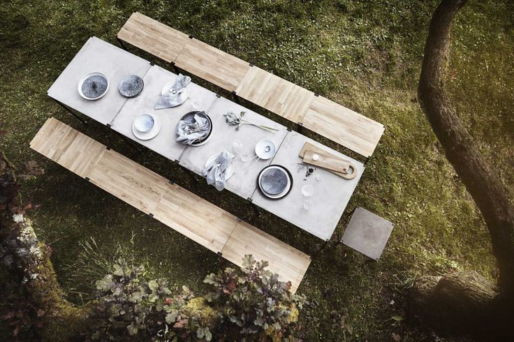 EH6 - Dining Table.  EH12 - Coffee Table or Bench. #coffeetable #bench #table #oak #oakbench #oakcoffeetable #oiledoak #powderpaint #concertetable #table #concrete #diningtable #concretediningtable #danisdesign #inspiration