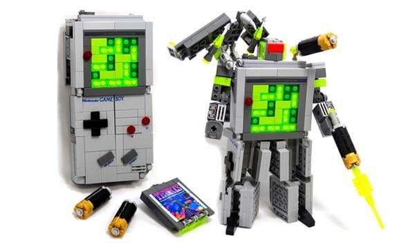 Lego Game Boy Transformer: Eye Lego, Lego Games, Games Boys, Diving Restaurant, Boys Transformers, Brick Games, Awesome Things, Gameboy Decepticon, Lego Gameboy Transformers