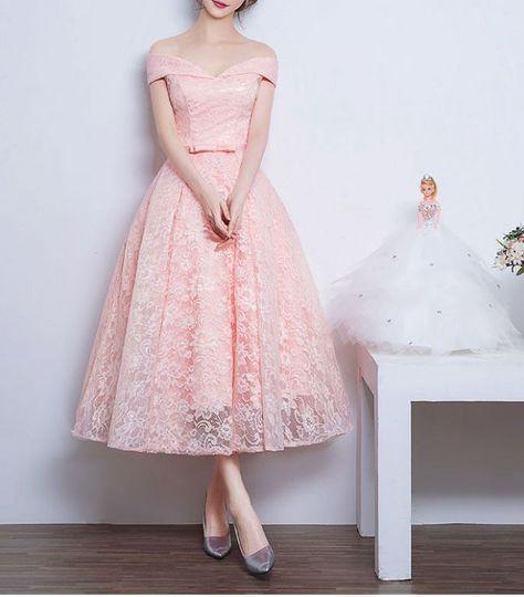 1950s Audrey Hepburn Vintage Inspired Off Shoulder Lace