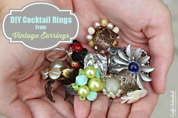 How to Make a Ring From Vintage Earrings