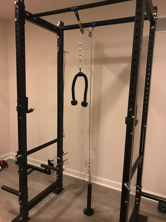 Diy Lat Pulldown And Low Pulley On A T3 Rack Imgur