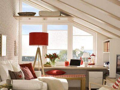 EV DEKORASYON HOBİ: Çatı katı dekorasyon fikirleri