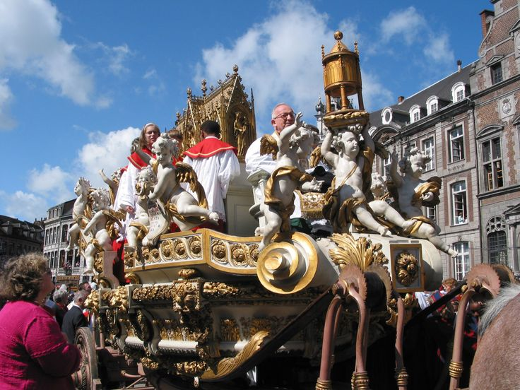 Mons / Bergen Belgium  City new picture : Chariot in Mons, Belgium. Every year as part of the Ducasse de Mons ...
