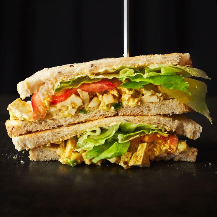 Vegan Curried Egg Sandwiches! YUM!!