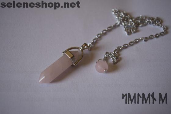 pendolo radioestesia quarzo rosa