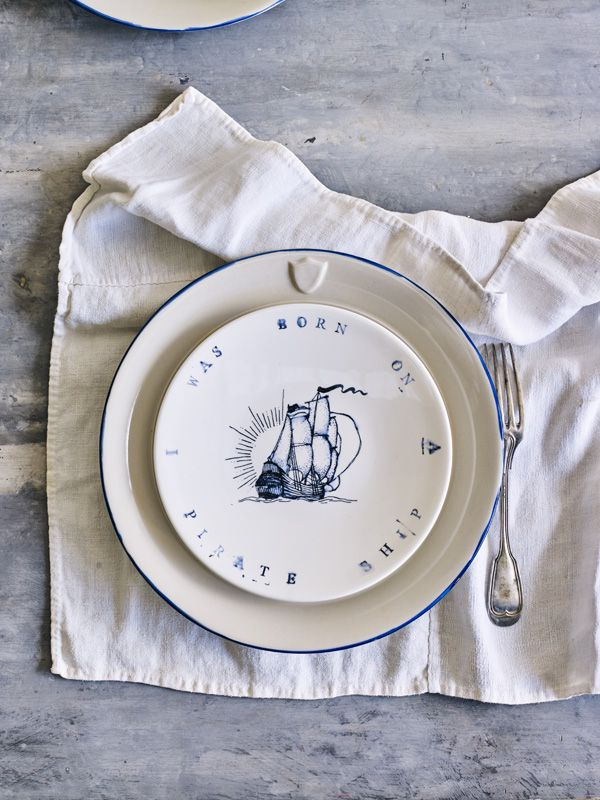 SHOP | Pirate Ship Plate | The Society Inc.