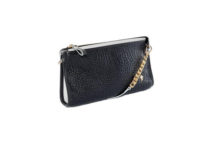 Jade clutch Black   www.federicalunello.com #federicalunello #bag #handmade #madeinitaly #accessories