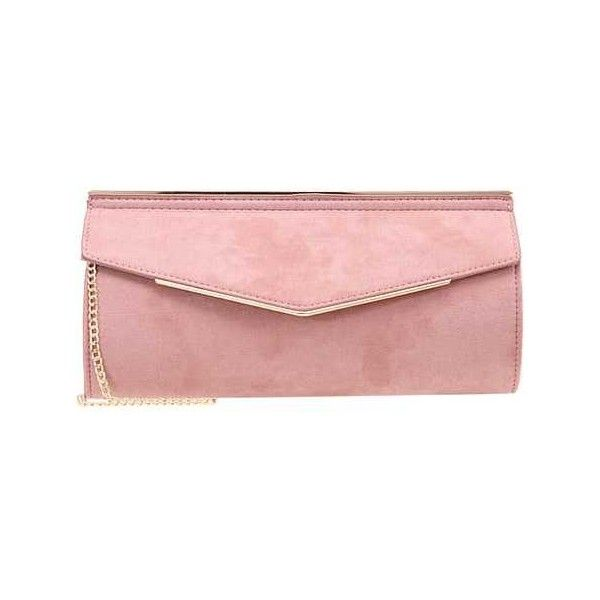 MISHA Clutch nude (€13) ❤ liked on Polyvore featuring bags, handbags, clutches, nude handbags, red clutches, nude clutches, red purse and red handbags