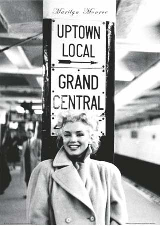 Grand Central Station, New York City - Marilyn Monroe #NYCLove #VSPINK #ELLE