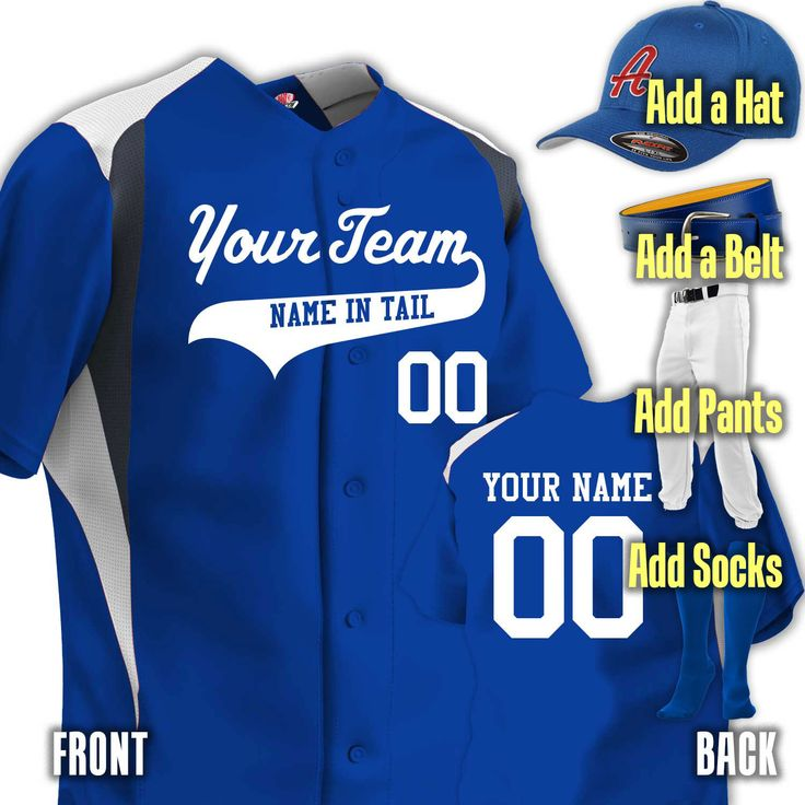 Custom 3 color baseball uniform personalized jersey with