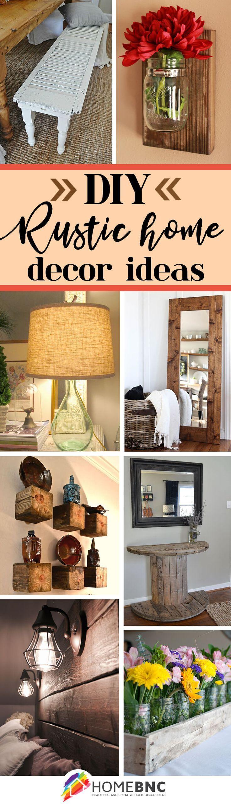 39 diy rustic home decor ideas you can make yourself for Ideas decoracion rustica