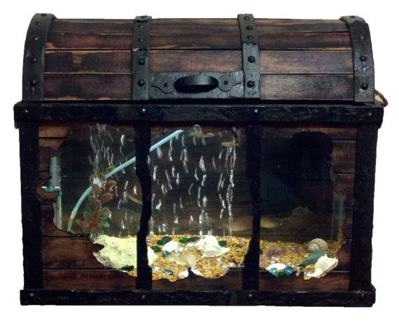 """YEAR END CLEARANCE --""""Little Treasures"""" 10 Gallon Fish Tank Aquarium with Lighting"""