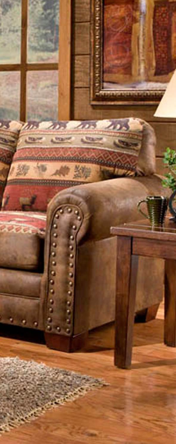Sierra Lodge Furniture - makes me want to curl up with a book and blanket on a snowy day
