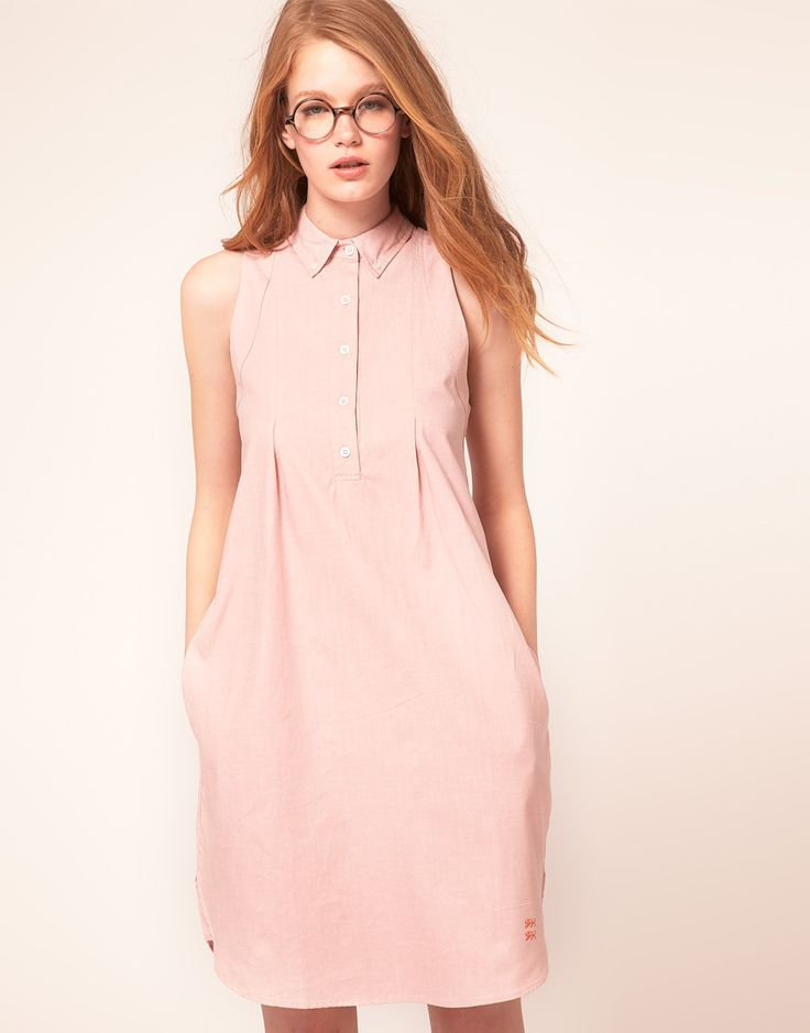 Every girl should own a shirt dress. Opt for one in a seasonal shade like pastel pink.
