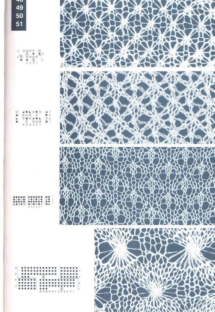 50 besten Lace knitting pattern Bilder auf Pinterest | Strickmaschen ...
