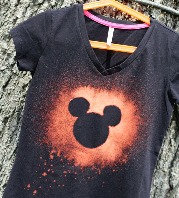 DIY Bleached Disney Shirt | 6 DIY Disney Crafts You Can Wear