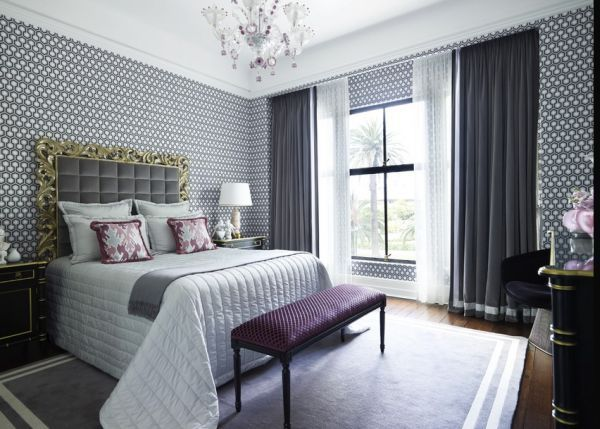 schlafzimmer wohnzimmer innendesign magazin gardinen inneneinrichtung luxus lila schlafzimmer grau zimmer - Schlafzimmer Lila Grau