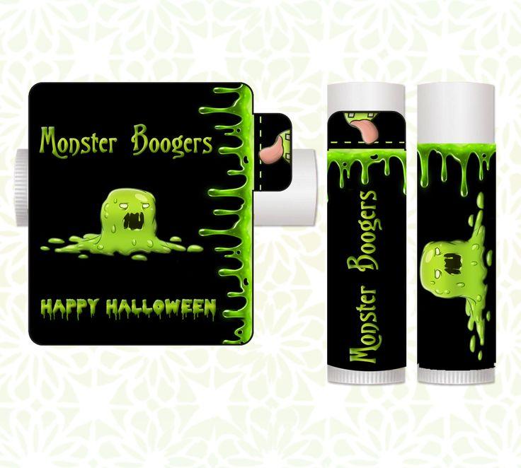 Lip Balm Labels - Halloween Lip Balms, Halloween Favors, Classroom Treats, Halloween Party Favors, Candy Alternative, Halloween Monster by LittlePrintsOttawa on Etsy