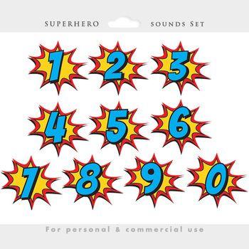 Superhero clipart - comic book clip art, super heroes, sou