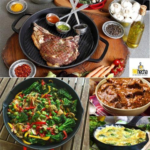 Hecha - Vase de Gatit pentru gurmanzi Fripturile, tocăniţele, legumele, toate vor avea un gust special atunci când sunt gătite în Vasele de Gătit Hecha! Alege o reţetă de suflet şi încearc-o! #campaniisharihome http://sharihome.ro/campanie/hecha-vase-de-gatit-pentru-gurmanzi