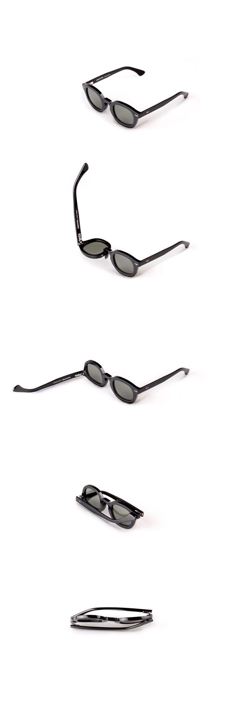 Movitra 115 - Nero con lente verde #sunglasses #movitra #movitraspectacles #spectacles #glasses #eyewear