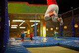 A trampoline gym