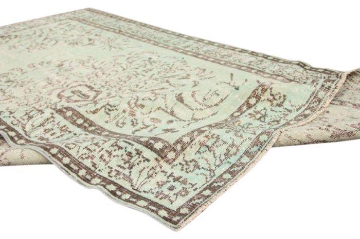 Vintage vloerkleed, groen, 270cm x 158cm | Rozenkelim.nl - Groot assortiment kelim tapijten