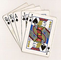 Euchre: The game that is a requirement to earn your high school diploma in Michigan ... if you don't play Euchre, than you're really NOT a true Michigander ... just sayin' ... =)