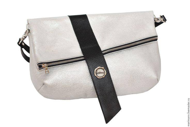 Купить Серебряная сумка - серебряный, серебряная сумка, Кожаная сумка, черненое серебро, серебряный клатч