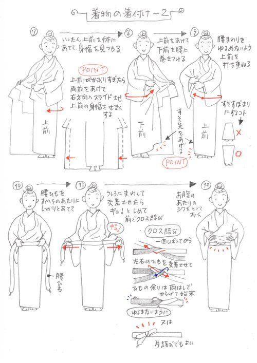 足袋からはじまって、肌着、長襦袢と着付けたあと いよいよ着物(長着)の着付けになります。 着物を着付けるときのポイントはいくつもあると思いますが ...