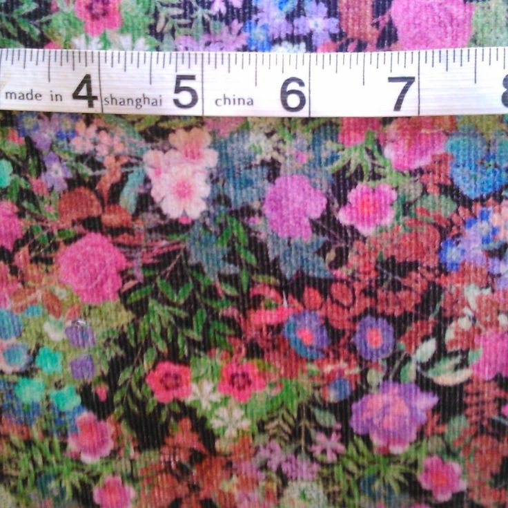 My needlecord obsession continues with this stunning floral print.