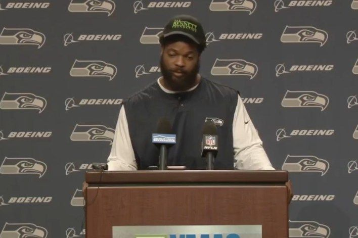 Michael Bennett says incidents like the one he faced in Las Vegas is why I sit down