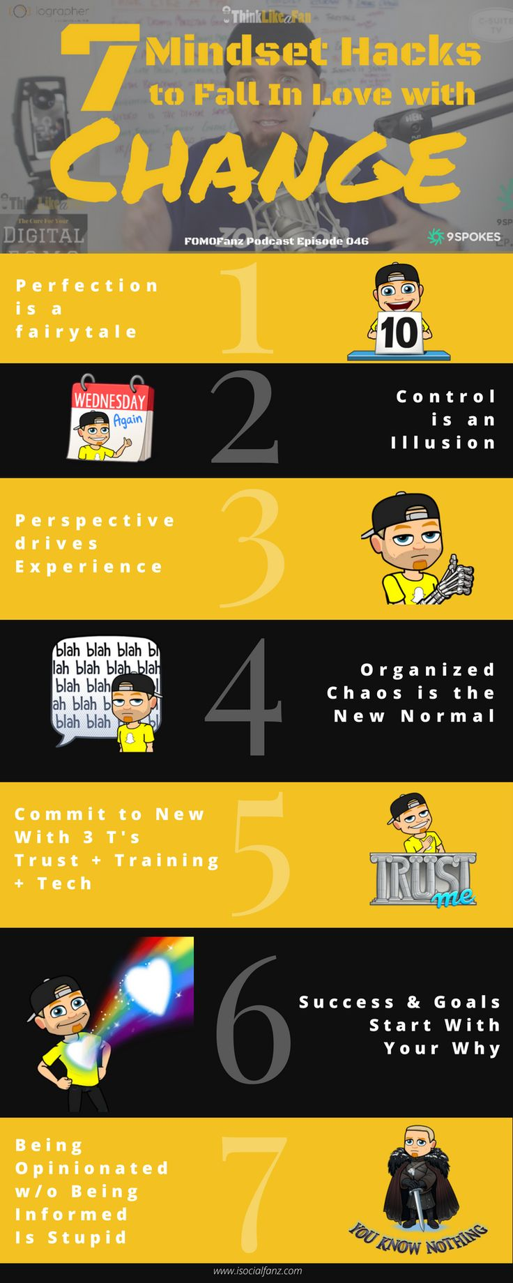 Mindset Hacks To Fall In Love With Change #Infografía