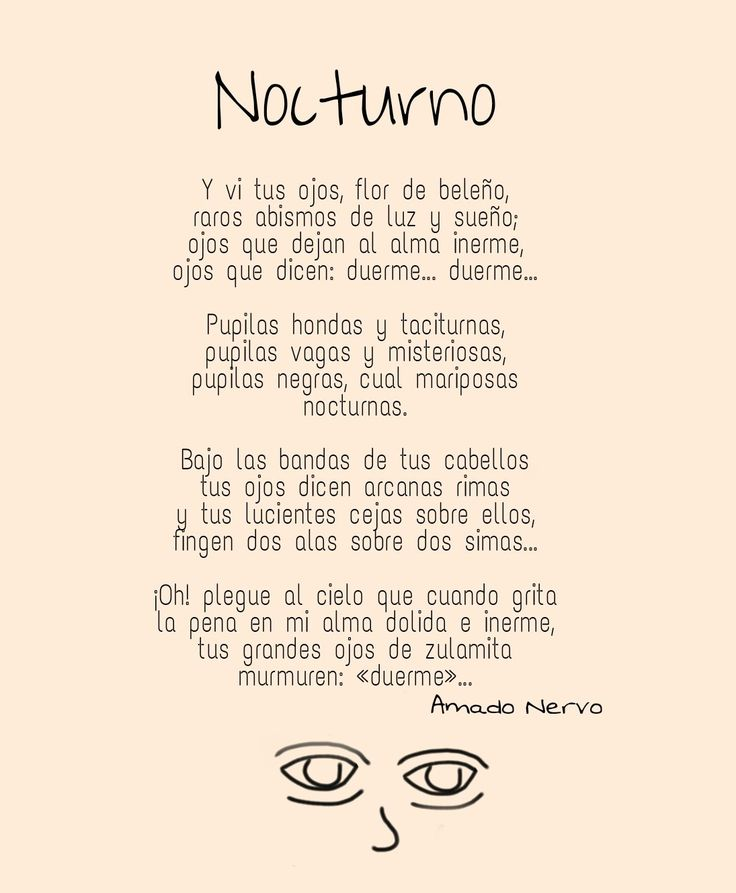 Poema Nocturno de Amado Nervo