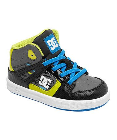 Take a look at this Black & Neon Yellow Rebound SE UL Hi-Top Sneaker by DC  on today!