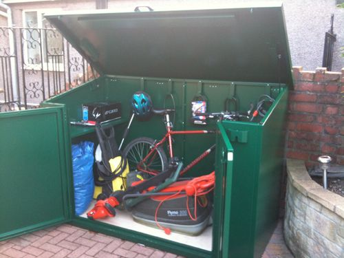 Asgard Access garden shed - Secure storage for bikes and garden tools #metalsheduk#