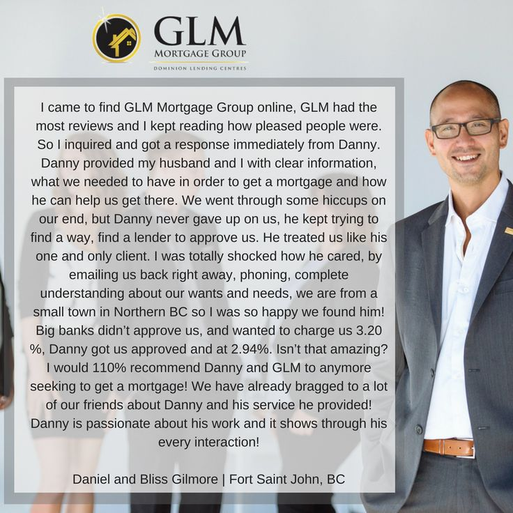 Great work to Danny Horner! Thank you to Daniel & Bliss. | GLM Mortgage Group