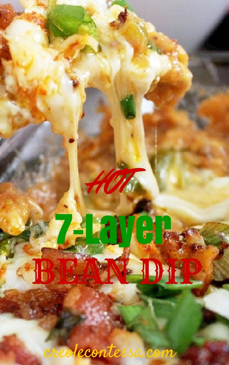 layers, 7 layer bean dip and Bean dip on Pinterest