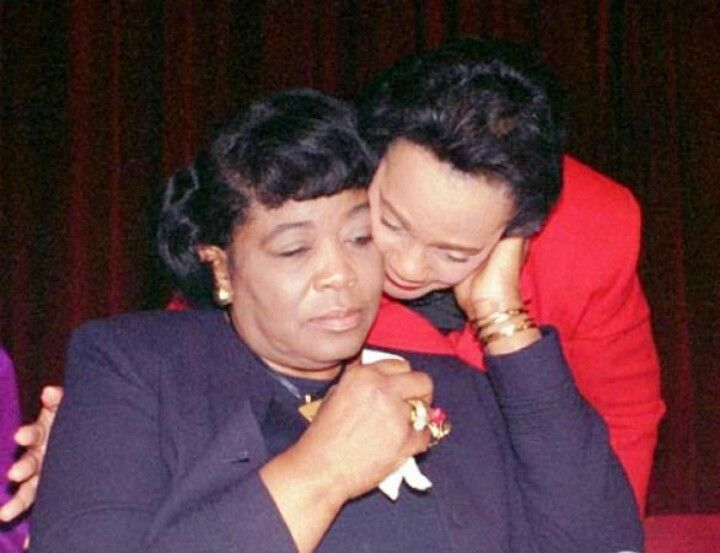 Now this is a beautiful picture. Betty Shabazz and Coretta Scott King. They both were into the arts. Coretta was an Opera Singer and Betty was a dancer. Betty graduated from Tuskegee Institute in Alabama and Coretta won a scholarship to the New England Conservatory of Music in Boston.