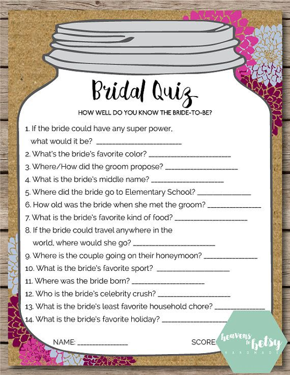 Mason jar bridal quiz bridal shower wedding game heavens to mason jar bridal quiz bridal shower wedding game heavens to betsy design pinterest bridal showers gaming and gift junglespirit Choice Image