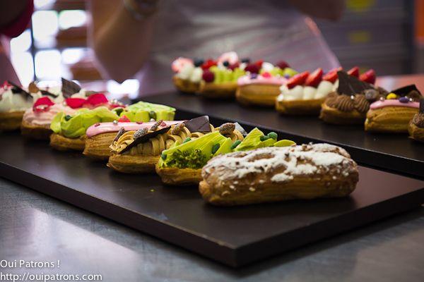 cours de patisserie avec Thierry Mulhaupt, les eclairs facon cupcakes