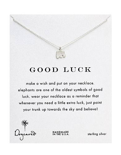 Good Luck Elephant Necklace. My Niece got me one of these for my birthday!! I love it!