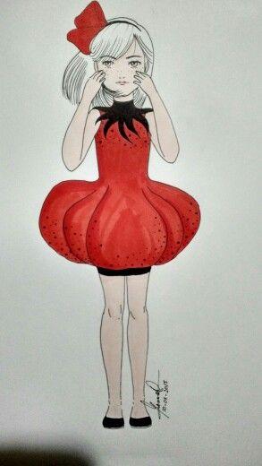 Girl tomate cherry