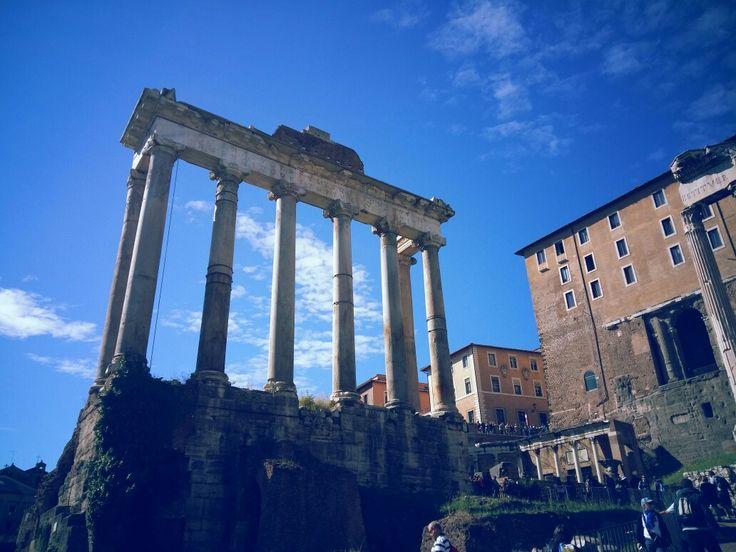 Templo de Saturno - Foro Romano - Roma - Italia