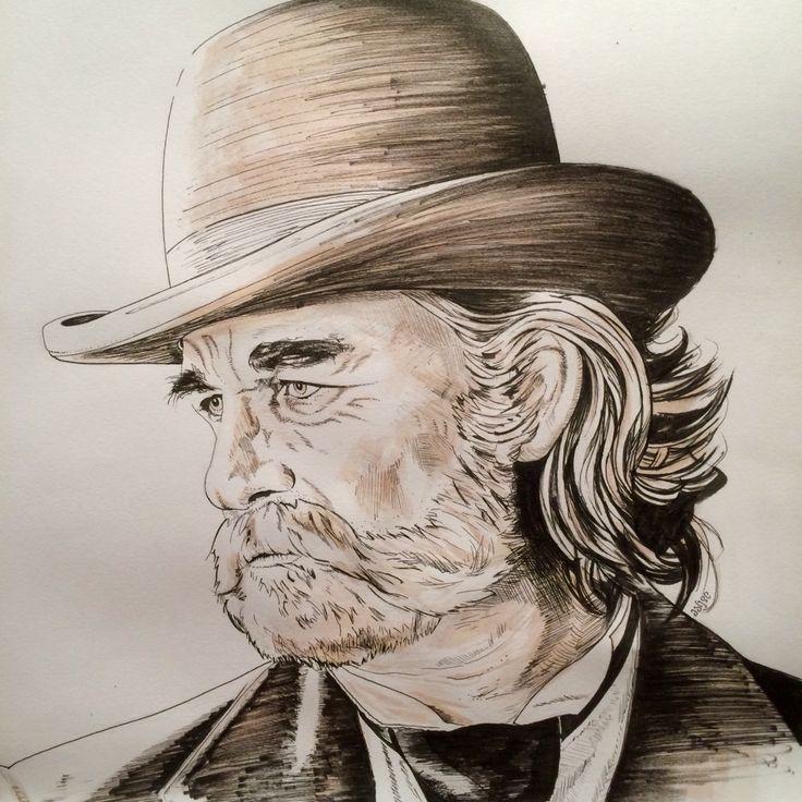 26 #Inktober2015 #Inktober #KurtRussell #SheriffFranklinHunt #BoneTomahawk