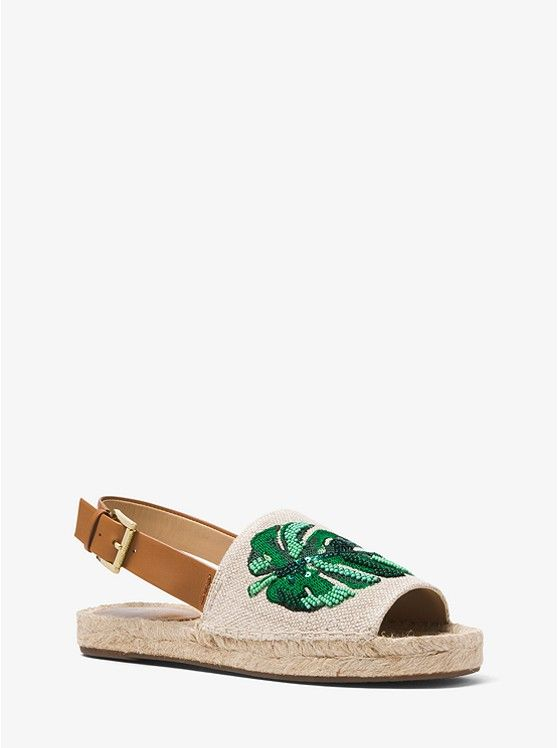 f0f88c99226b ... Michael Kors! Fisher Palm Embroidered Espadrille preview0