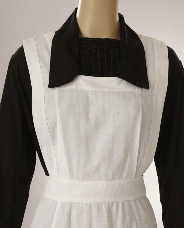Nurse Or Maids Uniform Black Dress W White Pinafore Apron