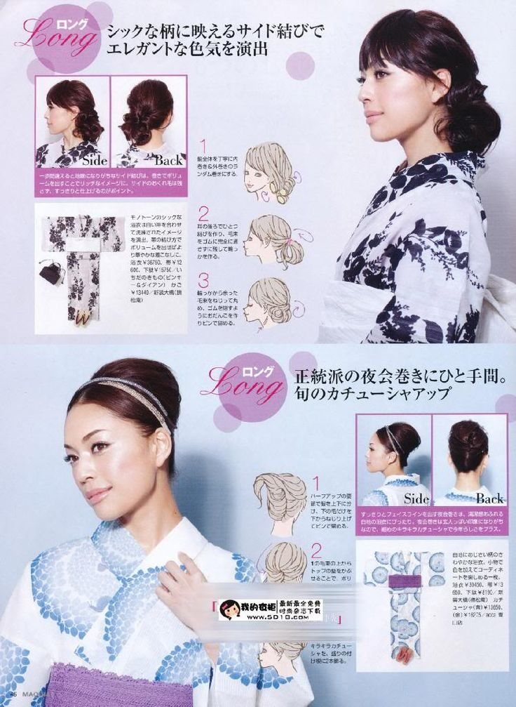 Hairstyles For Yukata For Long Hair Hair And Makeup